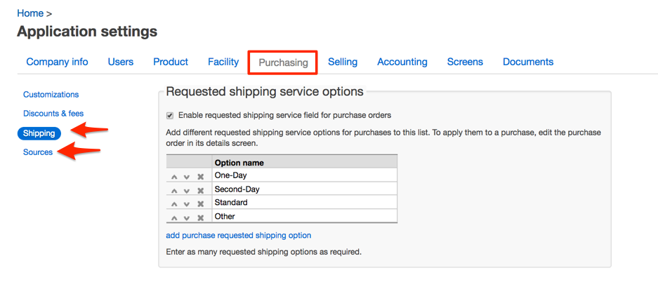 New fields for purchase orders and sales orders, New fields for purchase orders and sales orders