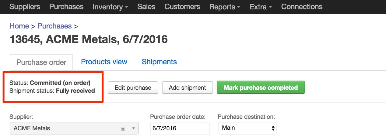 Improvements to sales and purchase order screens, Improvements to 'sales order' and 'purchase order' screens