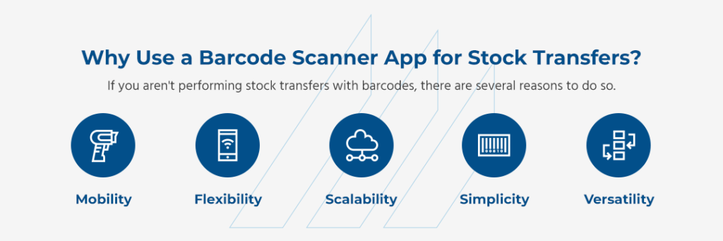 why use a barcode scanner app for stock transfer